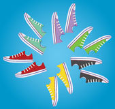 Sneakers. vector. Banner with sneakers that can be used for in-store signage Royalty Free Stock Image