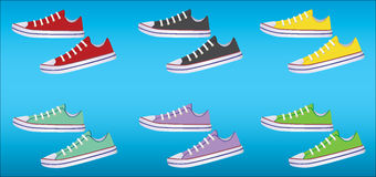 Sneakers. vector. Banner with sneakers that can be used for in-store signage Stock Photos