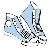 Sneakers vector Royalty Free Stock Images