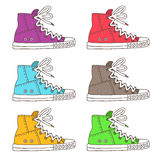Sneakers. Vector icons Royalty Free Stock Photography