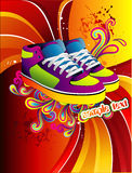 Sneakers vector illustration Royalty Free Stock Image