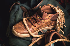 Sneakers for walking, stylish clothes Royalty Free Stock Images