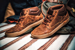 Sneakers for walking, stylish clothes Royalty Free Stock Photos