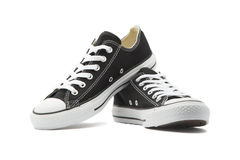 Sneakers on White Background. Black Sneakers with isolated background Royalty Free Stock Photo