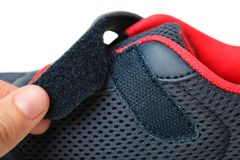 Free Sneakers With Velcro Fastener Royalty Free Stock Image - 136589996