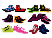 Sneakers for woman. Vector illustration of sneakers for woman Stock Photography