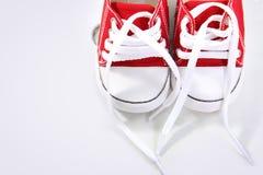 Sneakers z kopii przestrzenią, zasięrzutny zbliżenie Fotografia Royalty Free
