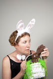 Sneaking Bunny Royalty Free Stock Photography