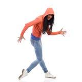 Sneaking woman Stock Photo