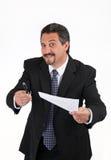 Sneaky бизнесмен Стоковые Фото