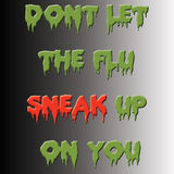Sneaky грипп иллюстрация вектора