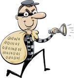Sneaky похититель данных на беге бесплатная иллюстрация