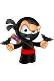 Sneaky смотря характер Ninja иллюстрация штока