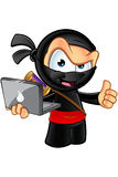 Sneaky смотря характер Ninja бесплатная иллюстрация