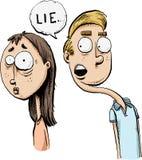 Sneaky человек лжеца иллюстрация вектора