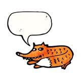 sneaky шарж лисы иллюстрация вектора