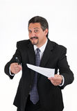 Sneaky Biznesowy mężczyzna Zdjęcia Stock