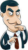Sneaky Businessman. A cartoon businessman with a sly look on his face Stock Photography
