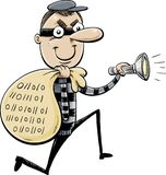 Sneaky Data Thief on the Run Royalty Free Stock Photography