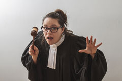 Sneaky judge Stock Photo