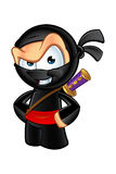 Sneaky Looking Ninja Character. An illustration of a sneaky looking cartoon Ninja character Royalty Free Stock Photo