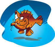 Sneaky Red Bass Royalty Free Stock Images