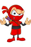 Sneaky Red Ninja Character Royalty Free Stock Image