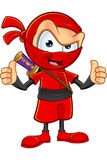 Sneaky Red Ninja Character Stock Photo