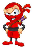 Sneaky Red Ninja Character Stock Images
