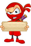 Sneaky Red Ninja Character Royalty Free Stock Images