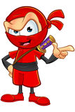Sneaky Red Ninja Character Royalty Free Stock Photography