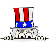 Sneaky Uncle Sam Royalty Free Stock Photos