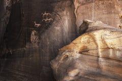 Sned Anasazi petroglyphs i kanjonen de Chelly - Arizona Royaltyfria Foton