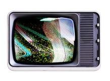Sned boll metar tv:n arkivbild