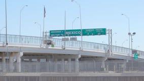 Sned bollskott av den Mexico gränsen lager videofilmer