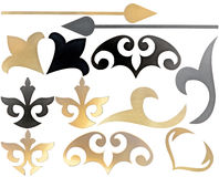Sned dekorativa beståndsdelar Royaltyfria Bilder