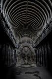 sned forntida aurangabad 26 27 backen för grottagrottaelloraen som hinduiska india nära nummer ut vaggar fasta tempel Arkivbilder