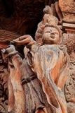 Sned träskulpturer i världen Fristad av sanning, Pattaya, Thailand Royaltyfria Bilder