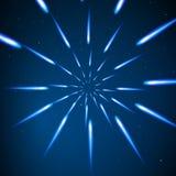 Snedvrida stjärnor Ljus rörelse i utrymme Royaltyfria Bilder