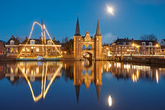 Sneek by night Royalty Free Stock Images