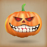 Sneer pumpkin vintage background Royalty Free Stock Photography