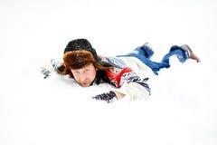 In sneeuw Stock Foto