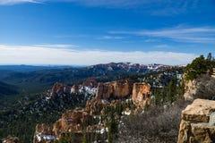 Sneeuw Afgedekt Bryce Canyon Stock Afbeeldingen