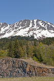 Sneeuw afgedekte berg Stock Foto's