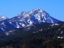 Sneeuw Afgedekte Ida Mountain Royalty-vrije Stock Foto