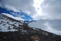Sneeuw in Annapurna, Nepal Royalty-vrije Stock Foto