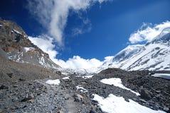 Sneeuw in Annapurna, Nepal Stock Foto's