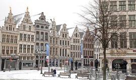 Sneeuw Antwerpen royalty-vrije stock afbeelding
