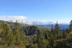 Sneeuw Behandeld San Bernardino Mountains royalty-vrije stock afbeelding