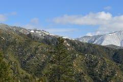 Sneeuw Behandeld San Bernardino Mountains royalty-vrije stock afbeeldingen